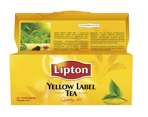 Чай Lipton Yellow Label (25 пакетиков)